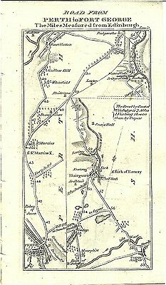 Antique map, Perth to Fort George (1)