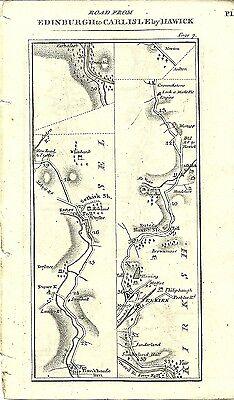 Antique map, Edinburgh to Carlisle (2)