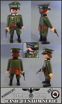 CAPITAN EJERCITO ALEMAN WW2 PLAYMOBIL CUSTOM SOLDADO GERMAN ARMY SOLDIER ARMAS
