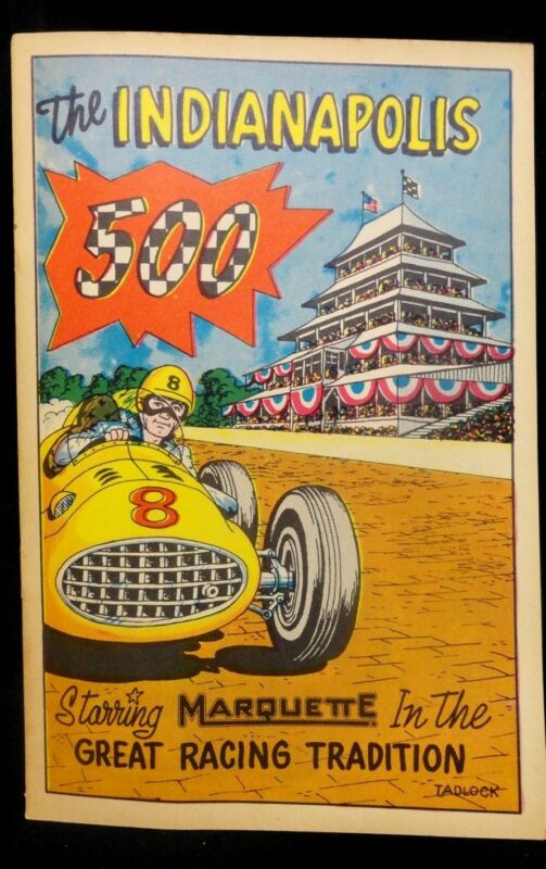 1957 INDIANAPOLIS 500 - MARQUETTE Program COMIC / MAGAZINE - (UNTOUCHED) INDY