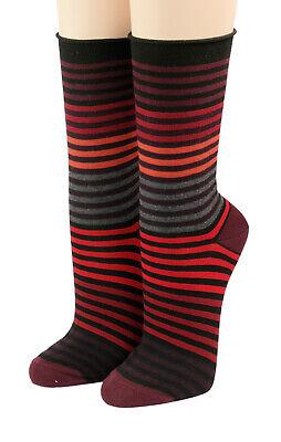 Crönert Herren Socken mit Rollrand Design Multiringel 26502 bordeaux 1650