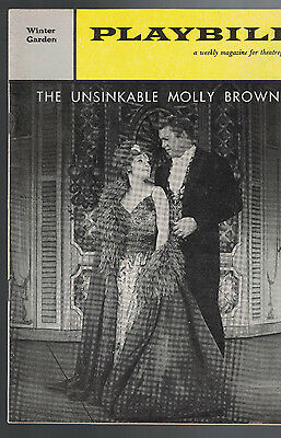 The Unsinkable Molly Brown Playbill December 26 1960 Tammy Grimes