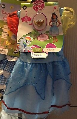 My Little Pony (Rainbow Dash) Toddler Costume size 3T-4T Disguise W/ Ears & Bonu