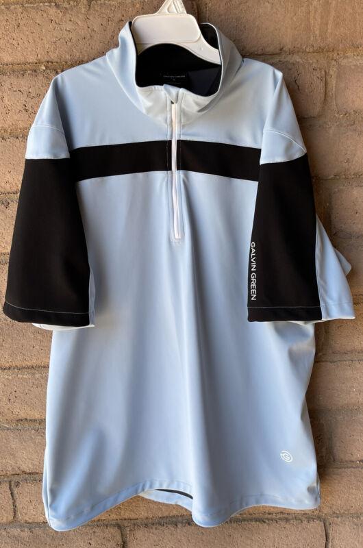 Galvin Green 1/2 Zip Short Sleeve Blue/ Black  Windstopper Pullover Shirt Jacket