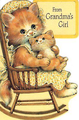 Happy Birthday Granddaughter Cat Rocker Kitten Greeting Card American Greetings