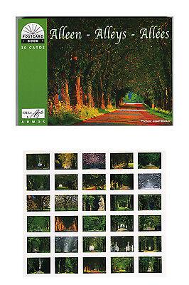 NEU! Postkartenbuch Alleen, 30 Postkarten