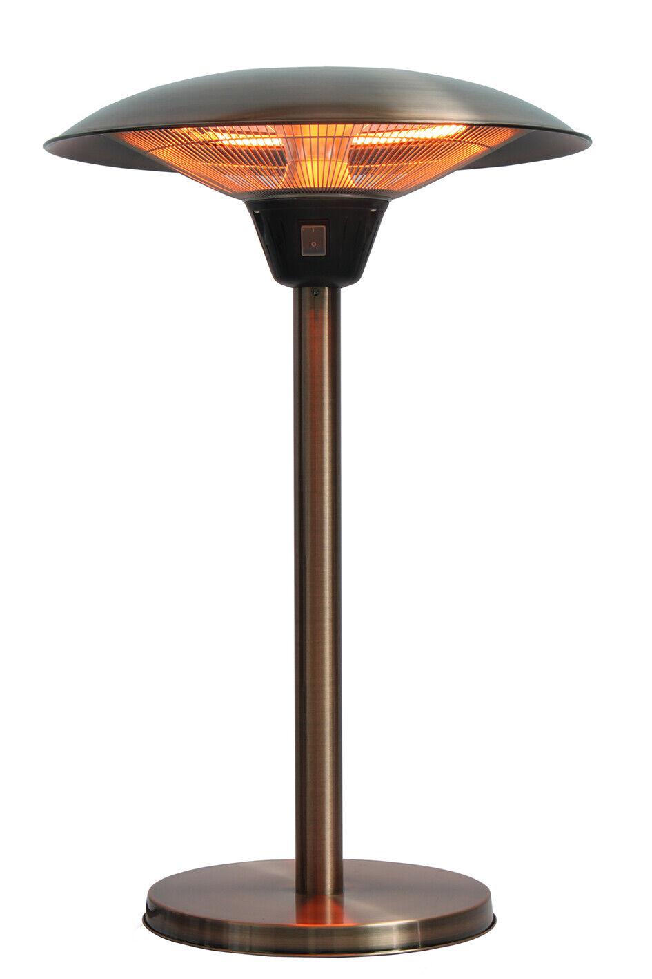 Fire Sense Cimarron Brushed Copper Colored Table Top Halogen