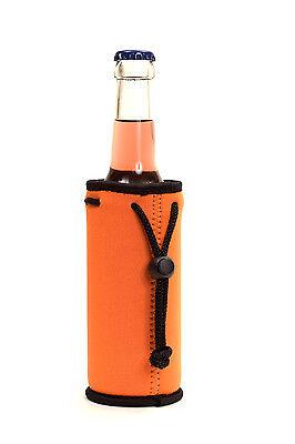 Isolierhülle Flaschenkühler Flaschenhuelle Neopren 0,3 / 0,33 Liter orange