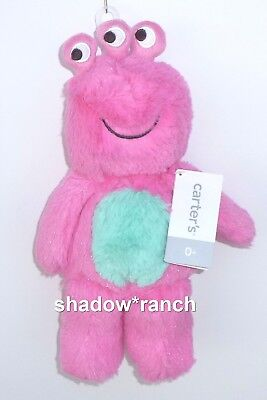 NWT Carters Pink Monster Plush Doll Three 3 Eyes Stuffed Alien Lovey Toy 67217](Pink Monster)