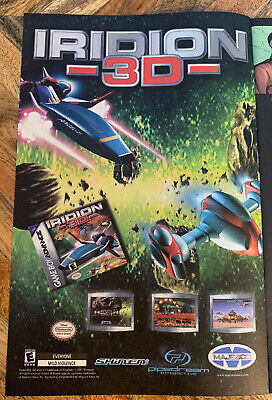 """2001 Game Boy Advance Iridion 3D Video Game Original Print Ad Insert 6.5""""x10"""", used for sale  Shipping to India"""