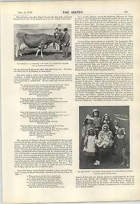 1898 Miss Margaret Ruby Greek Slave Guernsey Cow Bon Espoir