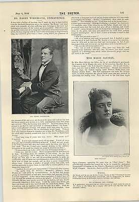 1894 Harry Woodhouse Entertainer Marie Salvian