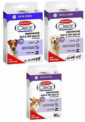 Bob Martin SKIN KIND Flea & Tic treatment - Sensitive Skin - Dogs/Puppy/Cats