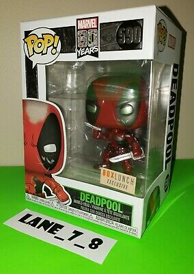 Funko Pop! BoxLunch Exclusive Metallic Deadpool #590 Marvel 80 Years New