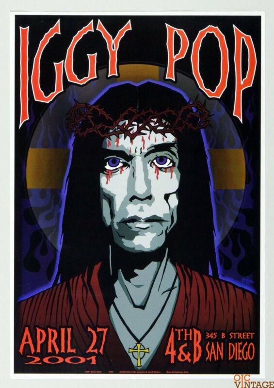 MINT RARE! IGGY POP Stooges ORIGINAL AOR AoMR 178.6Chris Shaw - Jesus Poster
