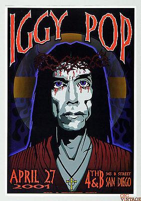 Iggy Pop Poster 2001 Apr 27 San Diego by Chuck Sperry