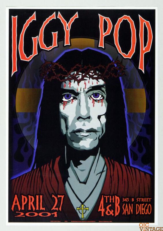Iggy Pop Poster 2001 Apr 27 San Diego Chuck Sperry