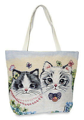Kitten Cat Purse - Kitten Cat Kitty Tapestry Tote Bag Purse Handbag Gift Purse