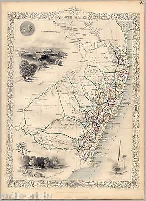 New South Wales-Australia-Australien - Karte-Map-Tallis & Co. 1850