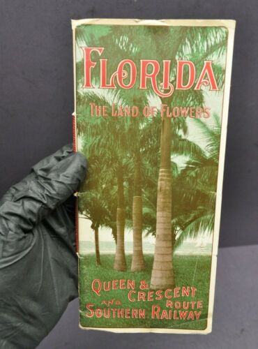 Queen Crescent Route Brochure Southern Railway Florida Vtg 1905 w/ Map