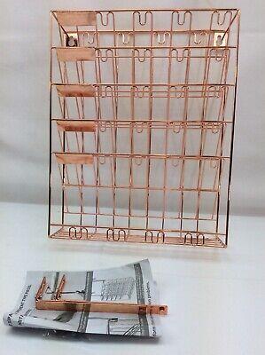 Hanging Wall File Folder Magazine Holder Organizer Copper