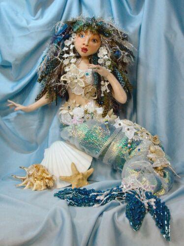 """Cloth Art Doll Pattern """"Angel Fish the Mermaid Bride"""" By Judy Skeel"""