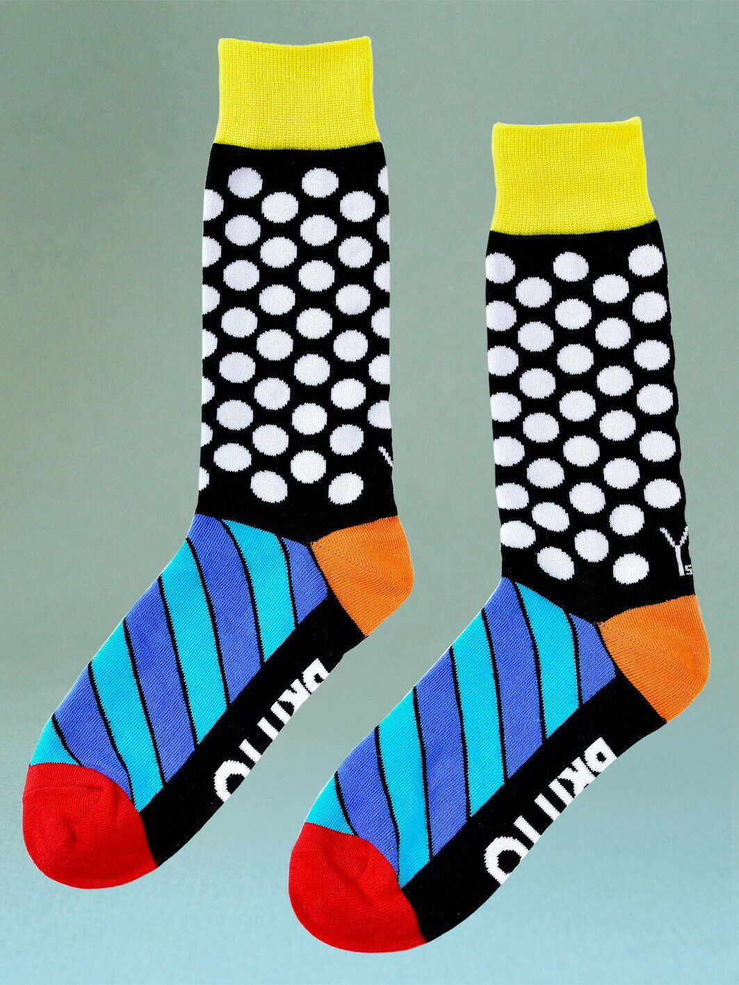 "Stylische Herrensocken ""Dots - Punkte"" - ROMERO BRITTO Miami Pop Art Size 7-12"