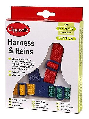 Clippasafe Easy Wash Toddler Harness & Reins (MultiColour)