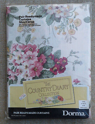 """PAIR OF DORMA """"COUNTRY DIARY""""- CURTAINS - 54"""" DROP - SEALED."""
