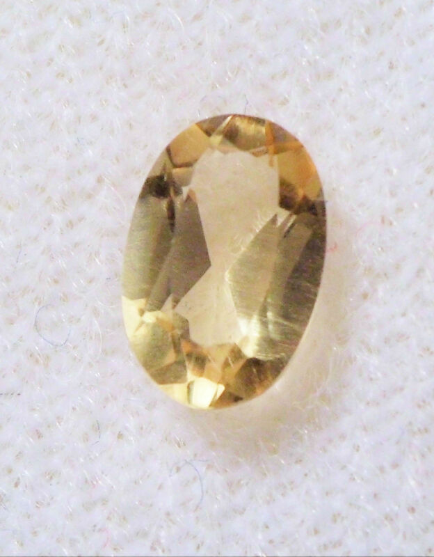VERY NICE 6 x 4 mm FACETED OVAL CUT GOLDEN YELLOW CITRINE BRAZIL GEMSTONE