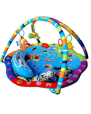 Baby Light Musical Ocean Adventure Gym Sea Life Activity Playmat Play Mat 0m+