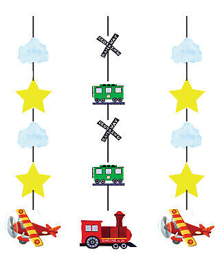 Airplane Train Truck Boat Hanging Cutouts Birthday Party Favor Decoration Supply