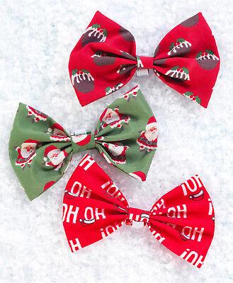 oHo or Pudding Puppy Dog Bow Tie MEDIUM (Santa Hohoho)