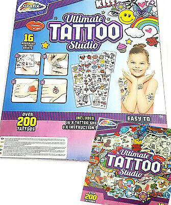 Girl Birthday Party Ideas (ULTIMATE TATTOO STUDIO KIT 200+ GIFT BOYS GIRLS BIRTHDAY PRESENT PARTY GIFT)