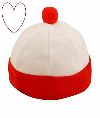 Mädchen Jungen Hut Rot Weiß Buch Charakter Tag Woche Zubehör