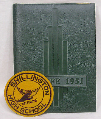 Vtg 1951 High School Yearbook Hi Life Shillington Pa And Speedboys Patch