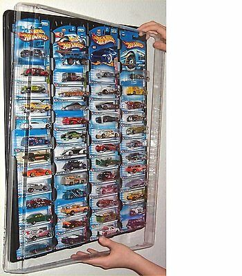 Hot wheels Display Case  for carded cars w Dust Cover for up