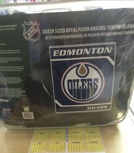 NHL & CFL queen size blankets.  Very soft and warm. Top quality