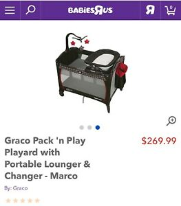 Graco Pack N Play with Portable Lounger/Changer (Waterloo)