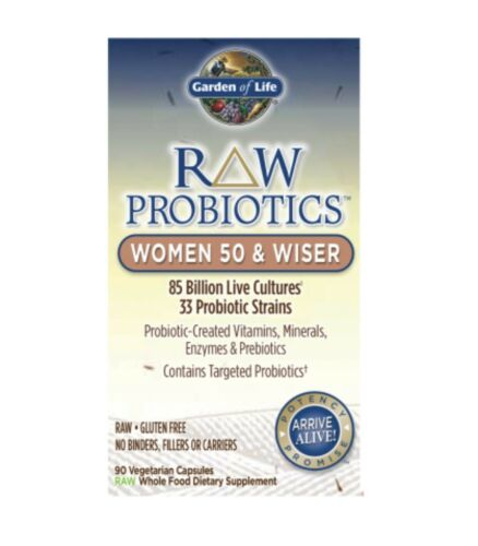 Garden of Life Raw Probiotics Women 50 & Wiser Sealed 90 Cap