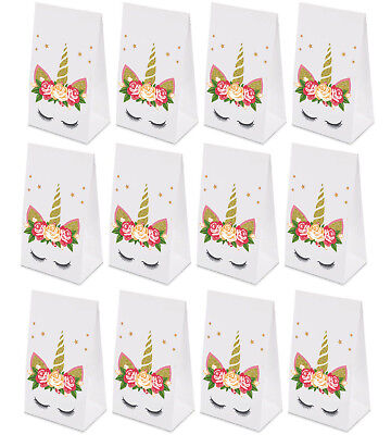 24PCS Unicorn Goodie Bags Paper Gift Bags Treat Bag Birthday Supplies for Girls - Gift Bags For Girls