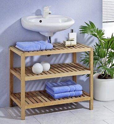 Waschbeckenunterschrank Waschbeckenregal Badezimmerregal, aus Walnussholz