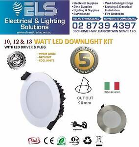 Wholesale 10W 12W 13W LED Dimmable Downlight Kit 90mm 70mm Cutout Bankstown Bankstown Area Preview