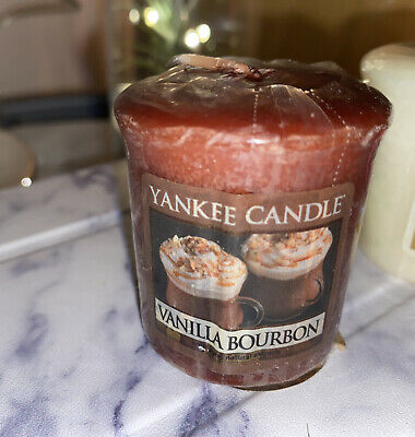FALL SPECIAL! YANKEE CANDLE VOTIVE CANDLE: VANILLA BOURBON (retired)