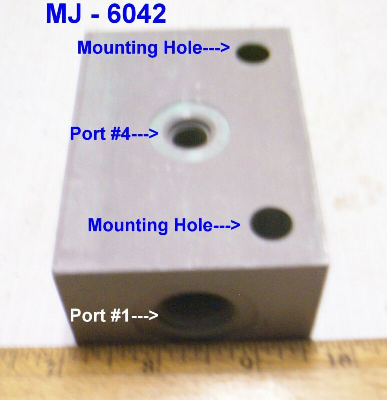 Standard Mfg - Aluminum Counterbalance Manifold / Block - P/N: 7352600-01 (NOS)