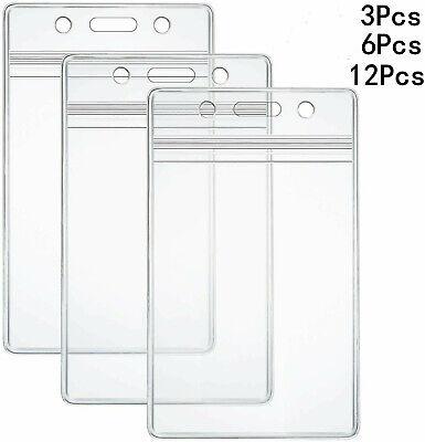 Display Vertical Badge Clip Clear Id Badge Card Plastic Pocket Clip Bag 109 X 69