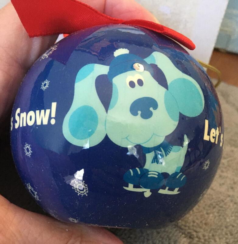 Blues Clues Let's Snow Christmas Ornament Enesco 2003