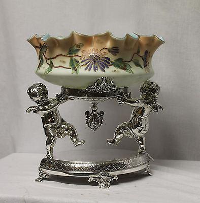 Antique Brides Basket with large Cherub base – Fancy Art Glass