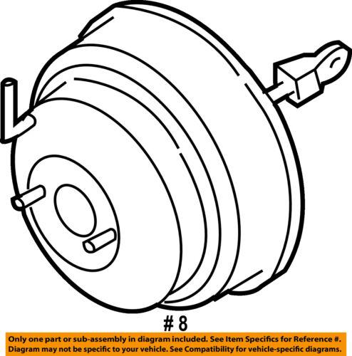 Infiniti Nissan Oem 03 04 M45 Power Brake Vacuum Booster 47210cr925