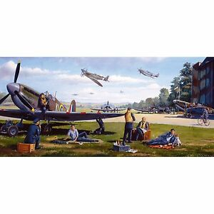 NEW! Gibsons The Waiting Game 636 piece panoramic war plane jigsaw puzzle